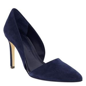 Banana Republic d'orsay blue suede pointed heels